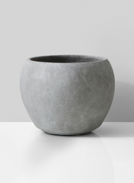 modern grey cement fishbowl vase for wedding event centerpieces