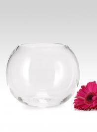 8in Glass Fishbowl Vase