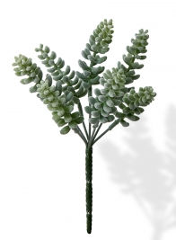 artificial flocked pagoda succulent plant pick