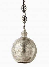antique silver turkish lamp