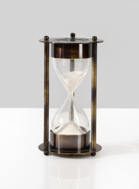 Heritage Antique Black Brass Sand Timer 1 minute