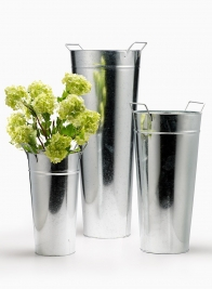 10 x 26in H Zinc French Vase With Square Handles