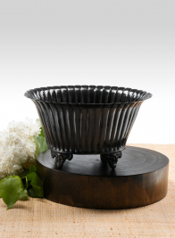 Antique Black Oval Urn