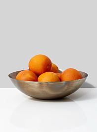 oranges metal fruit bowl decor