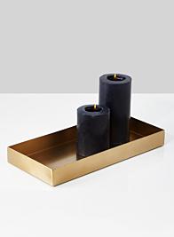 6 x 13in Gold Rectangular Iron Tray