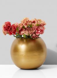 6in Gold Iron Fishbowl Vase