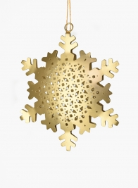 6in Brushed Nickel Snowflake Ornament