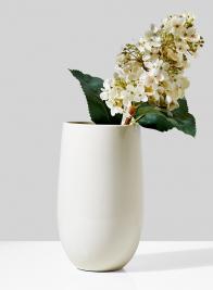 9in High White Porcelain U Vase