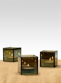 3in Reflective Mirror Tea Light Holder