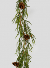80in Cypress Garland With Pine Cones