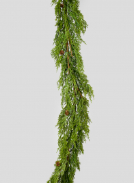 70in Cypress Garland With Mini Pine Cones