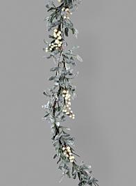 67in Mistletoe & White Berry Garland