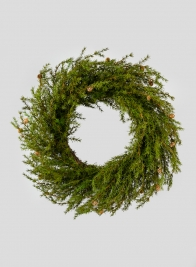 46in Green Cypress Giant Wreath