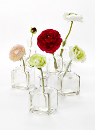 ranunculus glass bud vase wedding centerpiece