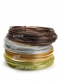 12 Gauge Embossed Silver Aluminum Wire
