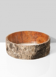 10 x 4 1/2in Birch Bark Finish Glass Bowl