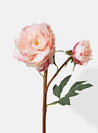 light pink peony silk flowers