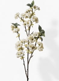 38in White Cherry Blossom Branch