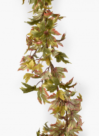Green & Rust Maple Leaf Garland