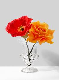 Small Classic Urn Glass Vase, Set of 4