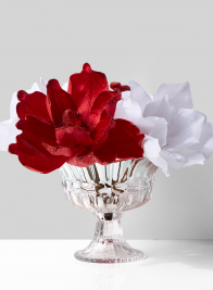 Large Glass Classic Flower Compote