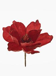 Red Glitter Magnolia, 7in