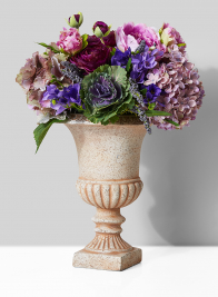 classic purple wedding floral centerpiece