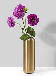 Bretagne Matte Gold Steel Capsule Vase, 8 1/2in H
