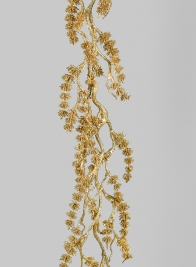 6ft Gold Glittered Mini Pine Garland