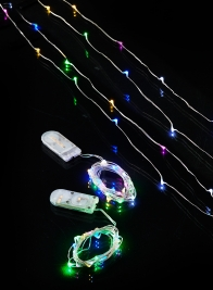 multicolor LED battery operated fairy lights