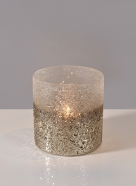 5in x 5in Pewter Ombre Glass Vase