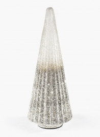 18in Pleated Mosaic Glass Tabletop Christmas Tree