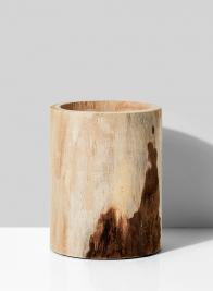 6 1/4 x 8in Round Paulownia Wood Vase