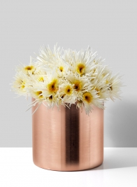 5in Copper Cylinder Vase