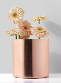 7in Copper Cylinder Vase