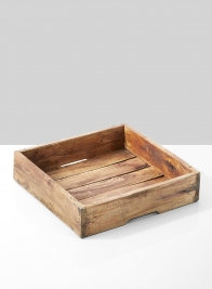square wooden tray home decor