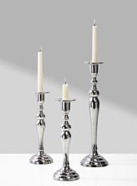 classic wedding nickel candlesticks