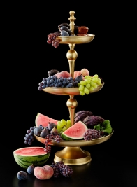 26 1/2in Gold 3-Tier Cake Stand