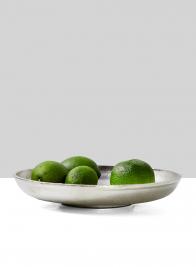 round nickel bowl fruit display
