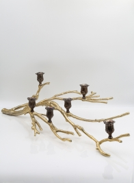 29in Gold Branch Candlestick