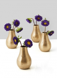 Chateau Gold Pear Bud Vase, Set of 4