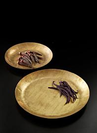 Round Antique Brass Tray