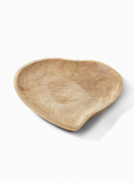 Large Heart Teak Tray