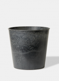10 3/4in Aged Black Wide Mouth Flower Bucket