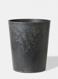 12in Aged Black Wide Mouth Flower Bucket