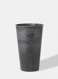 9 1/2in Aged Black Tall Flower Bucket