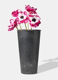 13 in Aged Black Tall Flower Bucket