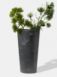 15 3/4in Aged Black Tall Flower Bucket