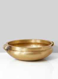15 3/4in Antique Brass Handi Bowl