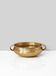 7 1/2in Antiqued Brass Handi Bowl